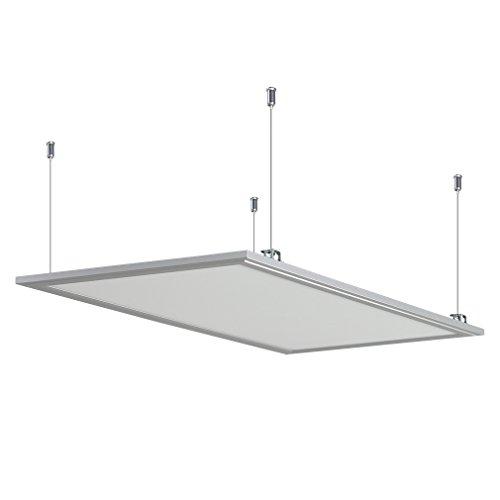 Anten LED Panel Hängeleuchte Deckenleuchte Deckenlampe, 30W, 2200 lumen, Tageslichtweiß-6000K, rechteckig 30x60 CM, IP20, mit Befestigungsmaterial und LED Treiber