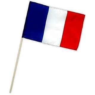 Fahne Flagge Frankreich 30 x 45 cm mit Stab