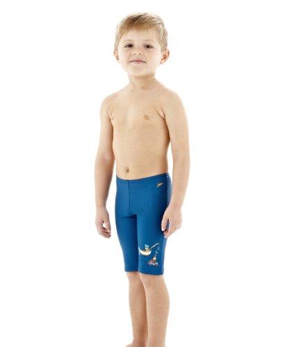 SPEEDO protección UV bañador de natación Boy's/niño en color azul/naranja, color Blue/Orange, tamaño 12 meses