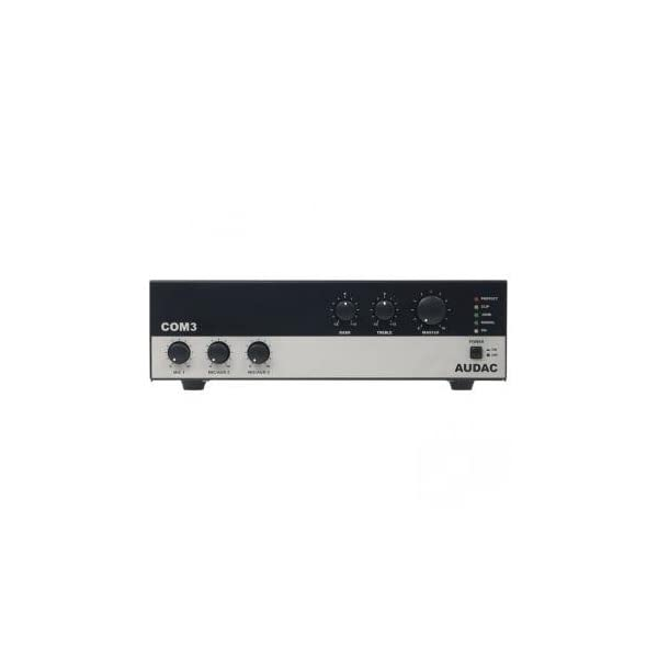 AUDAC COM3 1.0 Wired Black,Grey audio amplifier - audio amplifiers (1.0 channels, 30 W, 1%, 100 dB, 50 dB, 50 - 15000 Hz)