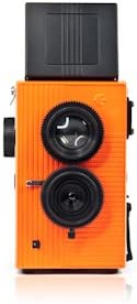 Camara Blackbird Fly 35mm TLR doble lente Reflex - Negra con frontal naranja