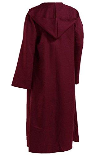 Amayar Herren Kapuzenmantel Umhang Knight Fancy Cool Cosplay Kostüm Gr. XXL, Rouge - ()