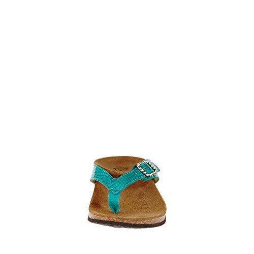 Vionic Isabeal Women's Toe-Post Orthotic Sandal bleu sarcelle