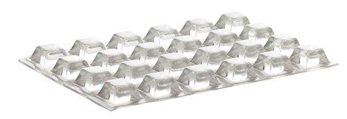 Home Xpert 24 Stück Schutzpuffer Clear Quadrat, Anschlagpuffer, Möbelpuffer, Anschlagdämpfer, transparent, selbstklebend, 12,6 x 12,6 mm, Höhe: 5,8 mm