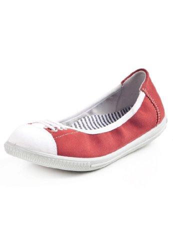 Ricosta Bliss (M)–-Leder Mädchen Ballerinas, Rot - Rot - Größe: EU 30 (Leder Sabrina)