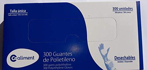 Guantes Polietileno Desechables. Talla única 300