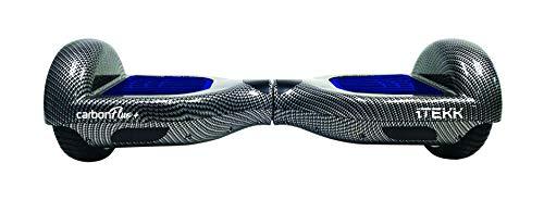 """Itekk Hoverboard 6.6 Carbon Fluo +, Assicurazione AXA \""""Tutela Famiglia\"""" inclusa, Blu Fluo"""