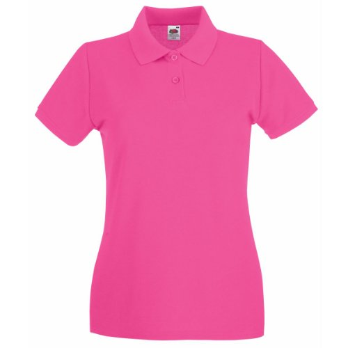 Polo à manches courtes Fruit Of The Loom pour femme Rose - Fuchsia