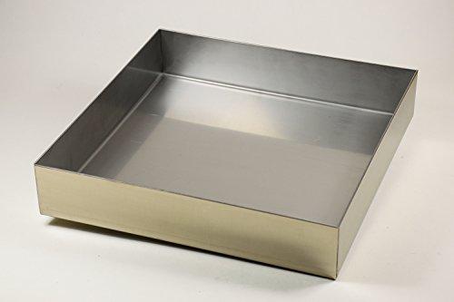 Edelstahl Wanne Ecken dicht verschweißt 1000 x 500 x 50 mm Stärke 1,5 mm, Abtropfblech, Auffangwanne, Pflanzwanne