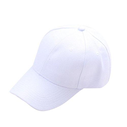 erthome Baby Hut Kappe, Baseball Cap Kinder Teenager Sommer snapback Hut Kappe Junge Mädchen Solide Hüte Caps (Weiß)