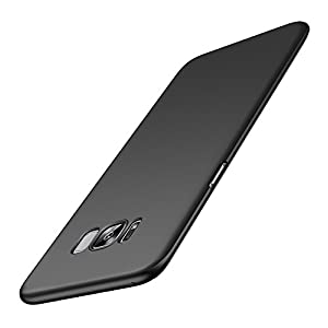 Kapa Silk Smooth Finish All Sides Protection Slim Back Case Cover For Samsung Galaxy S8 - Black