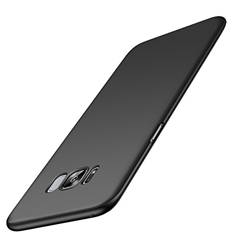 Kapa Silk Smooth Finish [Full Coverage] All Sides Protection Slim Back Case Cover For Samsung Galaxy S8 - Black