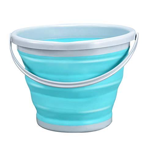 Zusammenklappbarer tragbarer Haushaltseimer - Ideal für die Reinigung von Haushalten, Waschen von Fenstern, Aktivitäten im Freien, Angeln und Camping (Fenster Waschen Aktivität)