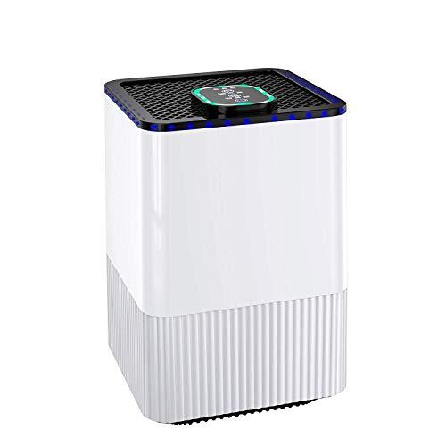 Turbo Purificador de Aire con 4 Etapas de Filtración, 4 Modos de Purificación, con Temporizador y Generador de Iones Negativos, Eliminar Polvo, PM2.5, Formaldehído, Olor, Familia y la Oficina
