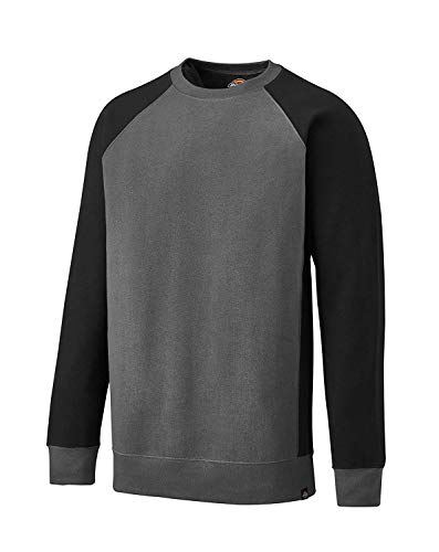 Dickies T-Shirt Two Tone SH2007, Größen, optimale Passform, Passend zur Everyday 24/7 Kollektion 2017 (Sweatshirt Grau, L) Raglan Sweatshirt
