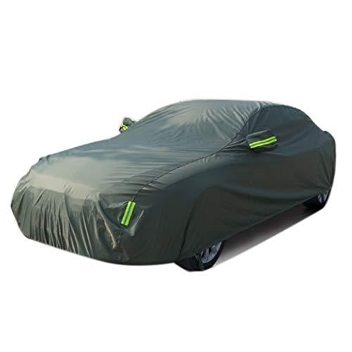 Car Cover Adatto per Cover per Auto Mercedes-Benz C180 C200 E200 E300 può Aggiungere l'icona per Auto Protezione Anti-Gelo per la Neve Invernale (Color : Green, Size : E300)