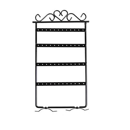 48 Trous Boucle d'oreille Rack Bijoux Organisateur Clous d'oreille Stand Mur de Fer Cadre Collier de Rangement Titulaire