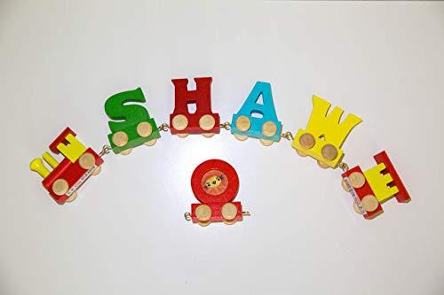 Lettere Di Legno Colorate : Set treno di lettere colorate di legno per formare il nome