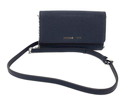 Michael Kors Damen Jet Set Travel LG Handy Crossbody Geldbörse Navy blau