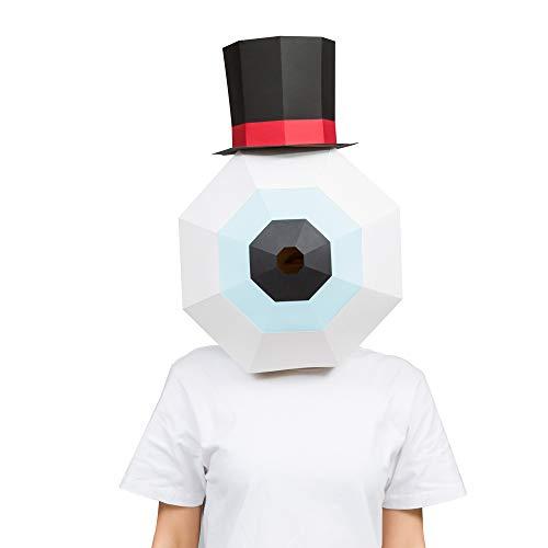 Teen Haube Kostüm - LJJY Halloween Maske 3D Stereo DIY papiermodell kreative lustige Auge Perle haube Maske Junge mädchen vollgesichts Party Tanz Cosplay Show Requisiten
