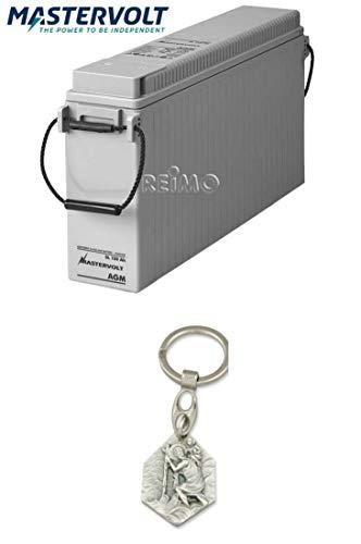 Zisa-Kombi Mastervolt AGM Batterie Slimline SL 12/150 Ah, 560x110x280mm (932988850526) mit Anhänger Hlg. Christophorus
