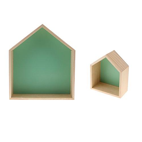Gazechimp Landhaus Stil Wandregal Hängeregal Regal Holz für Kinderzimmer Wand Deko