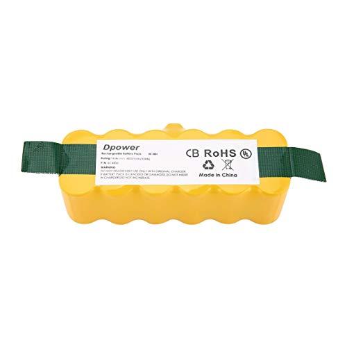 Funnyrunstore 14.4v 4800mah ni-mh batteria per aspirapolvere ricaricabile per irobot roomba (colore: giallo)