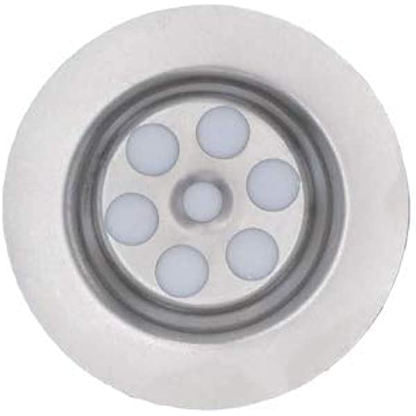 Sink Plug Hole Cover 63mm Diameter Grill Steel Replacement Universal 1 Bsp Amazon Co Uk Diy Tools