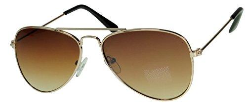 Immerschön Kinder-Sonnenbrille - cooles Aviator-Design gold braun - Pilotenbrille - die Sonne kann kommen !