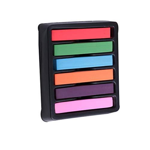 Mädchen-6 Farbe Temporary Waschbar DIY Haar Kreiden Dye Pens Weiche Pastelle Einmaliger Färben ()