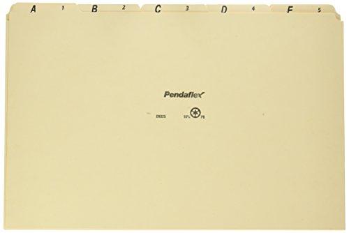 Pendaflex EN325 A-Z Top Tab Recycled File Guides, 18 pt. Manila 1/5 Tab, legale Größe, 25/Set -