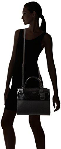 Guess Cate Satchel, Sacs à Main Femmes, Taille Unique Noir (Nero)