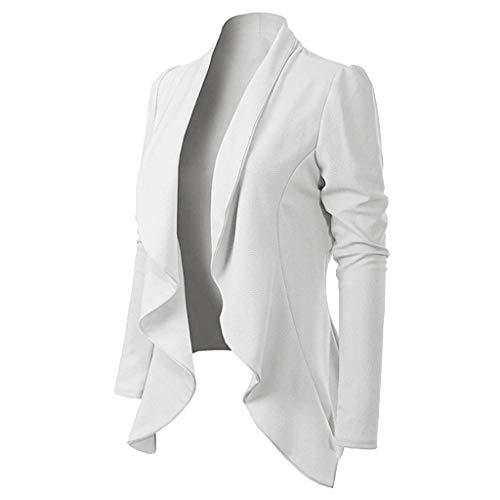 BHYDRY Frauen Eleganter Stil Langarm Umlegekragen Langarm Kurze Blazer Mantel -