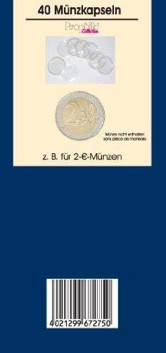 40 Prophila coin capsules 26 mm inner diameter e.g. for 2 Euro coins