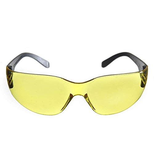 Goodplan Sicherheitsschutzbrille Arbeitsschutzbrille Brille für Sport im Innen- oder Außenbereich Gelbe klare Linse