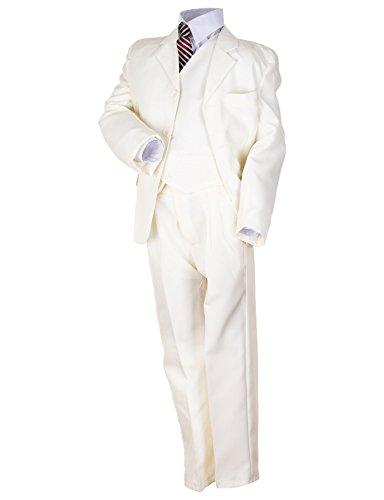 5tlg. Jungen Fest Anzug Kommunionsanzug Smoking Kinderanzug für Viele Festliche Anlässe M133be Beige 2/98/104
