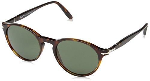 Persol Unisex Suprema Sonnenbrille, Braun (Gestell: Havana Glas: Grey 901531), Small (Herstellergröße: 50)