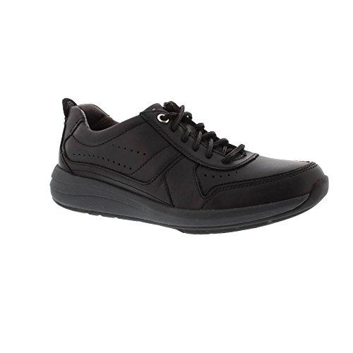 Clarks Un Coast Form - Black Leather 10 UK Clarks 10 Damen