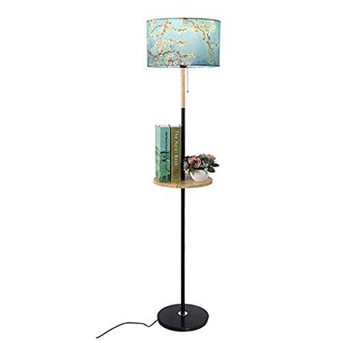 *Stehlampe Couchtisch Stehlampe Rack Tablett Mit Tisch Holz Wohnzimmer Schlafzimmer Einfache Moderne Nachttischlampe Stehlampe gewölbt (ausgabe : 12W warm light)