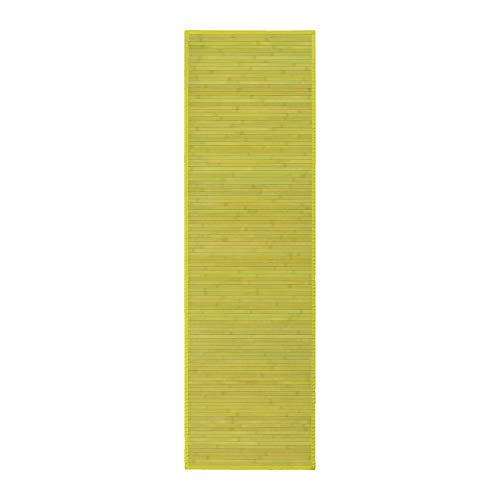 Alfombra pasillera Oriental Verde de bambú de 60 x 200 cm Sol Naciente - LOLAhome