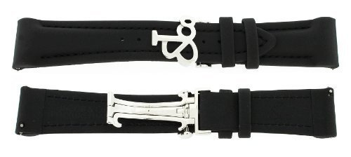 Jacob & Co. Uhrenarmband aus Polykautschuk, 22 mm, 47 mm, Schwarz