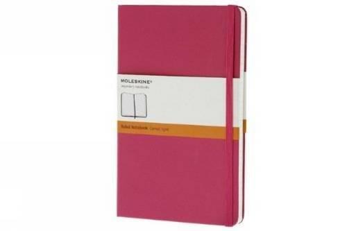 Moleskine farbiges Notizbuch (Large, Hardcover, liniert) pink