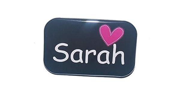 Namensschild Anstecker Name personalisiert eckig Button Ansteckbutton Herz