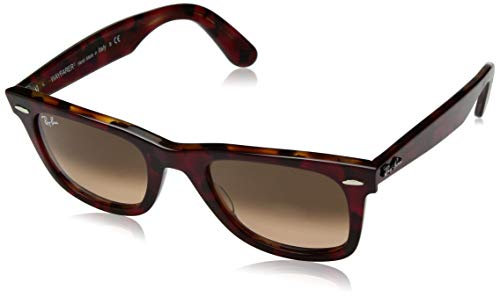 Ray-Ban Unisex-Erwachsene 0RB2140 Sonnenbrille, Gold (Top Tr Red On Orange Havana), 50