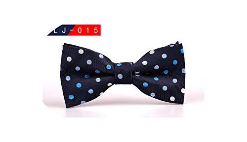 Mens Bow Tie Male Polka Dot Bowtie Necktie Business Wedding Neckties Bowtie,15 -