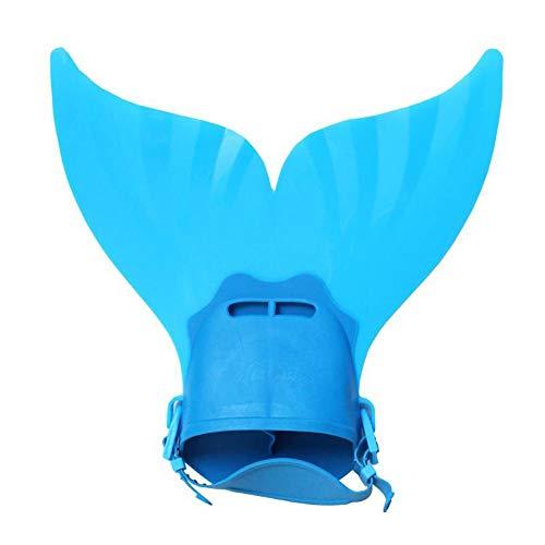 ZJY Kids Mermaid Monofin Fin Cute Fishtail Shape Schnell Abnutzung Soft Foot Pocket Geeignet für Kindertauchen Schwimmen Ideales Accessoire und Geschenke für den Kindertag,Blue