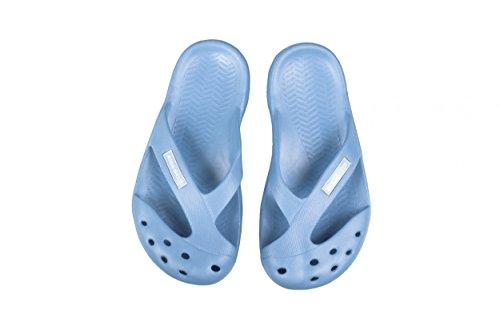 Aqua Speed® Kinder Poolschuhe, Badeschuhe, Badelatschen, Pantolette Vigo / hellblau