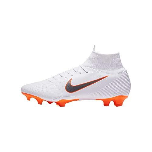 Nike Herren Mercurial Superfly VI AG PRO Fußballschuhe, Weiß (White/Chrome-Total O 107), 44 EU (Nike Mercurial Superfly Orange)