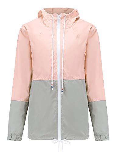 Regenjacke Damen Jacke Wasserdicht Winddicht Regenmantel Damen Outdoor Jacke für Damen Kapuzenjacke Wasserfeste
