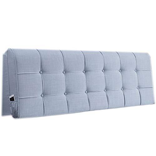 JYW-kaodian Kopfteil Kissen Bett Rückenkissen Rückenlehne,Cushion Bedside Cushion Bed Wedge Einfaches und modernes Schlafzimmer. Abnehmbar,Blue,A200*58 * 10cm Blue Suede Wedge